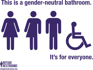 accessible restrooms - Gender Neutral Bathroom Signs